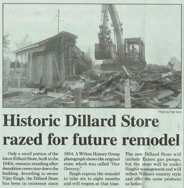 Dillard Store Razed2