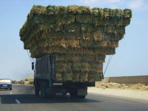 May is Hay Harvest - watch for hauling hay