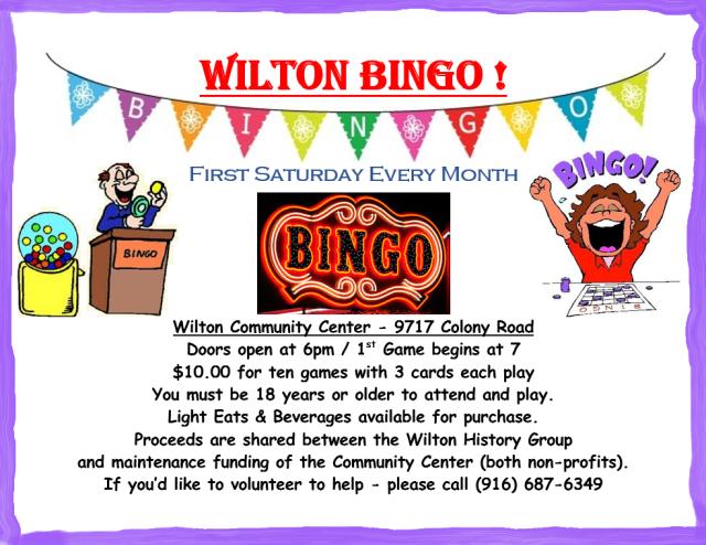 2018 Wilton Bingo